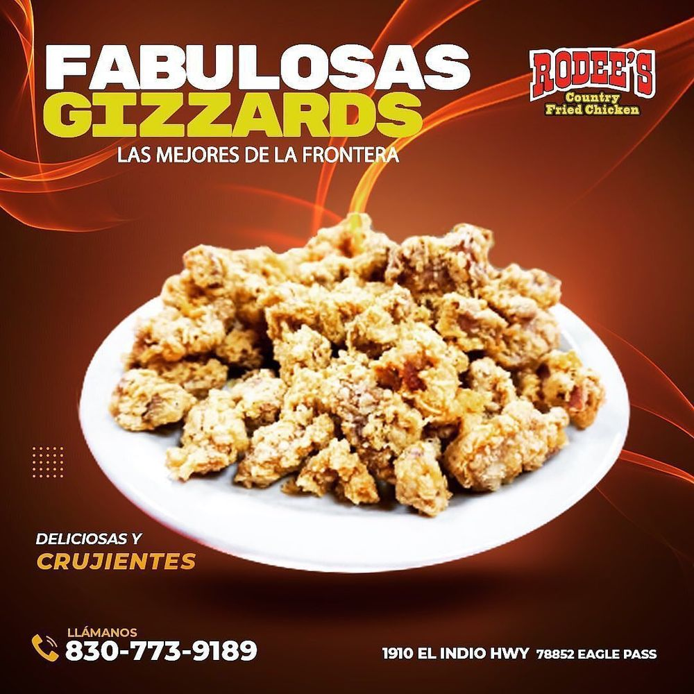 Rodee's Country Fried Chicken: 1910 Fm 1021, Eagle Pass, TX
