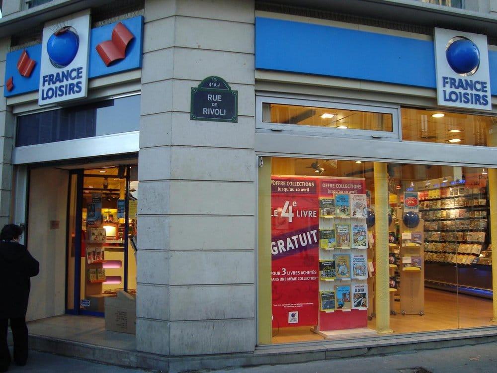 France loisirs buchhandlung 37 rue rivoli ch telet les halles paris fr - France loisir parrainage ...