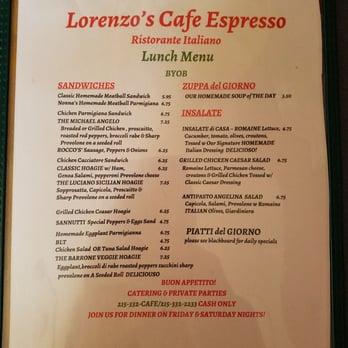 Lorenzo S Cafe Espresso Ristorante Italiano