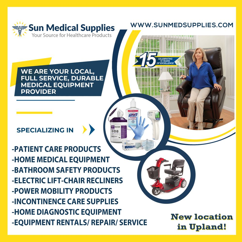 Sun Medical Supplies: 1394 W 7th St, Upland, CA