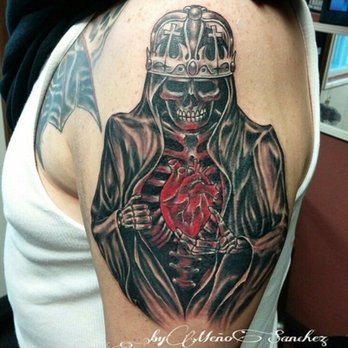 27fde22a2c420 Photo of Aztec Heart Tattoo - Sacramento, CA, United States. Meño Sánchez