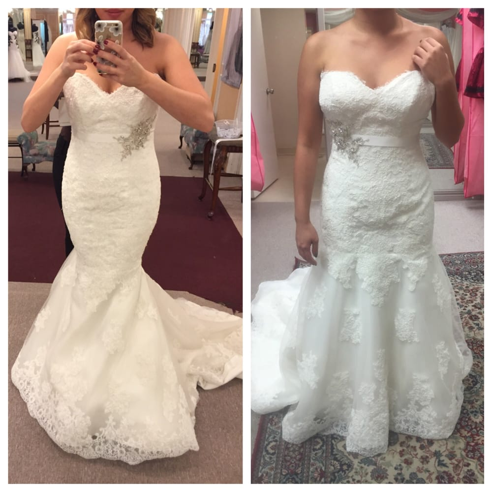 Photo on the left was my beautiful gown before alterations Wedding dress dry cleaners near me