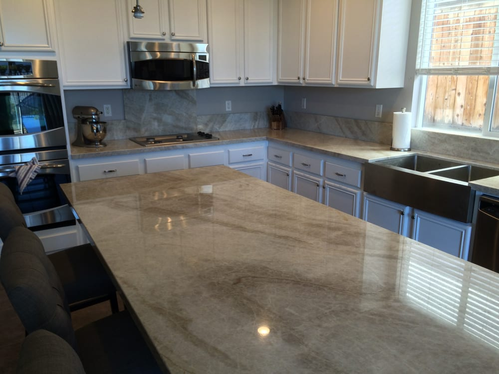Well known Our completed kitchen with new Taj Mahal quartzite counter tops  NH85