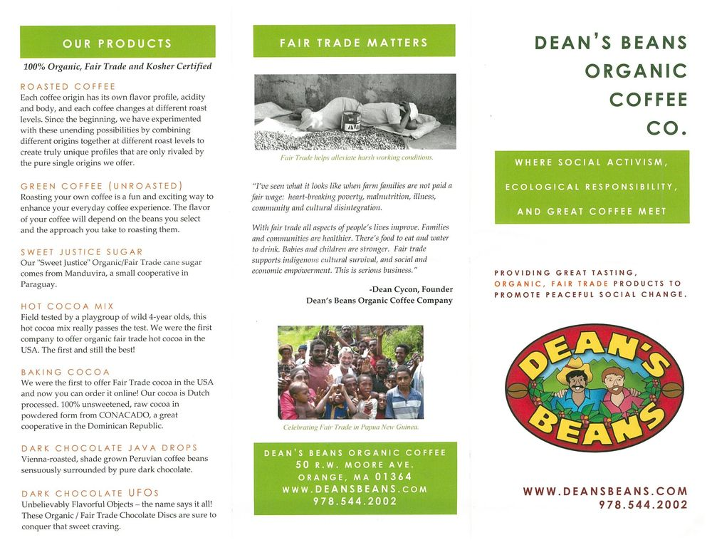 Dean's Beans: 50 Rw Moore Ave, Orange, MA