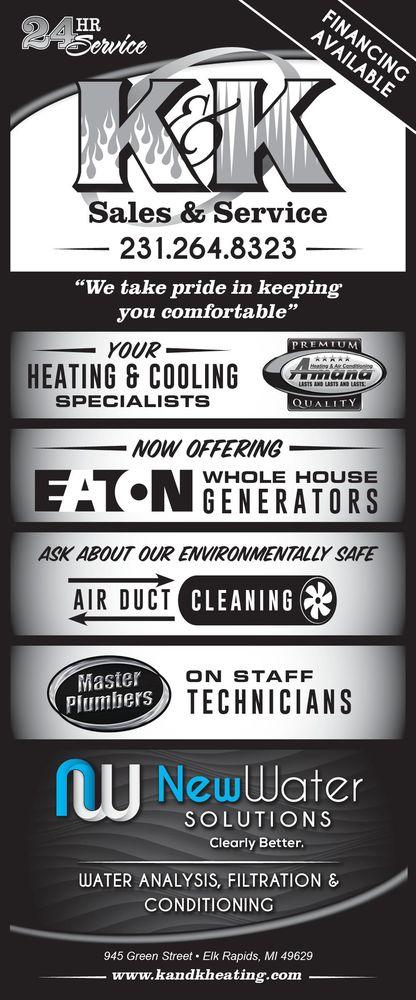 K & K Heating and Cooling: 945 Green St, Elk Rapids, MI