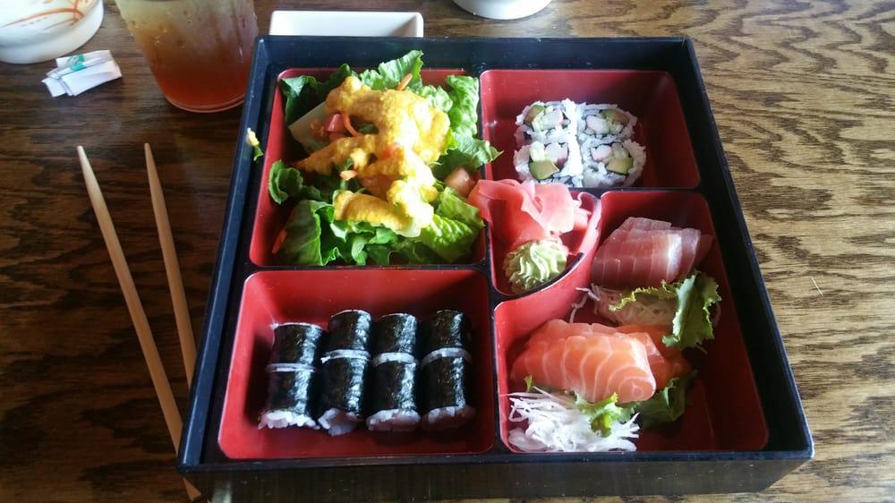 sashimi bento box lunch yelp. Black Bedroom Furniture Sets. Home Design Ideas
