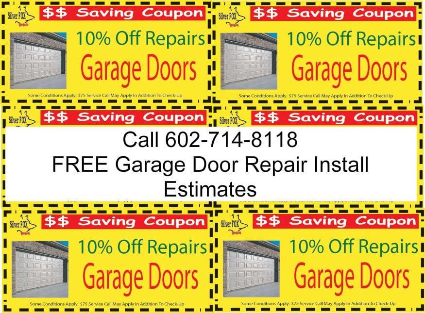 Phoenix discount garage door repair closed garage door for Garage door repair phoenix