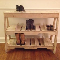 Photo Of Austin Pallet Furniture   Austin, TX, United States. Shoe Rack