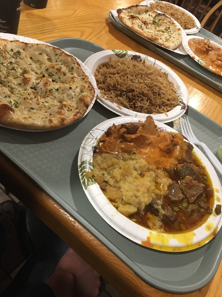 Food from Curry Indian Restaurant