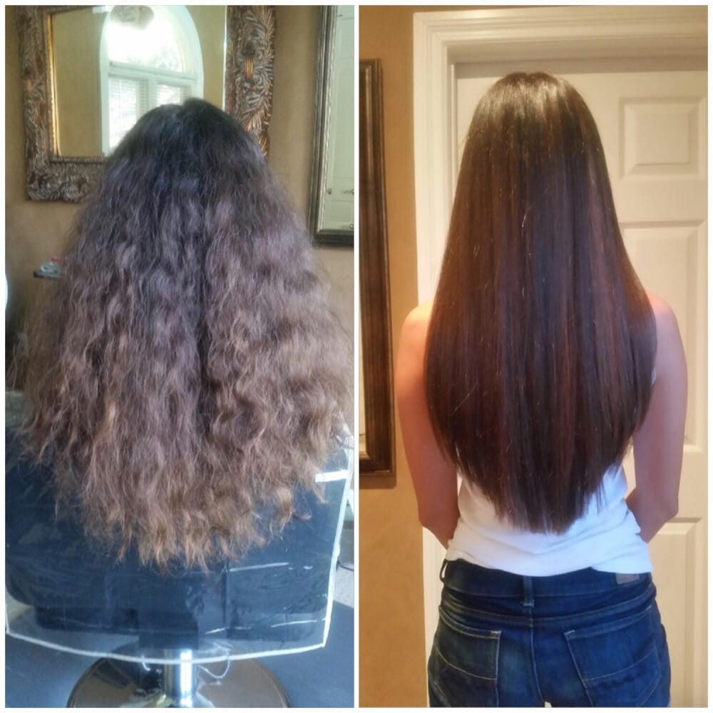 Before and after (Brazilian blowout, color and haircut) - Yelp