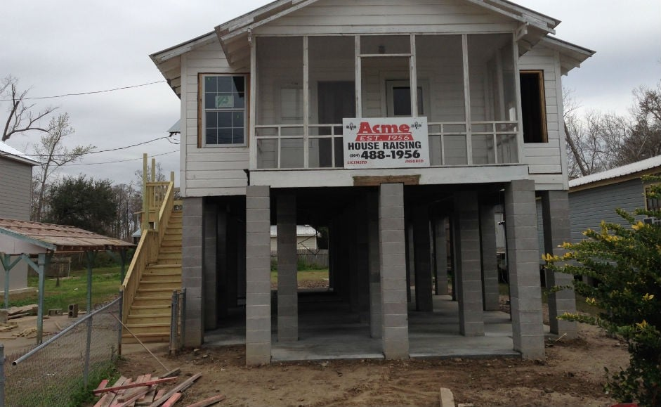 Acme house raising are pier and beam elevation experts for Pier and beam homes