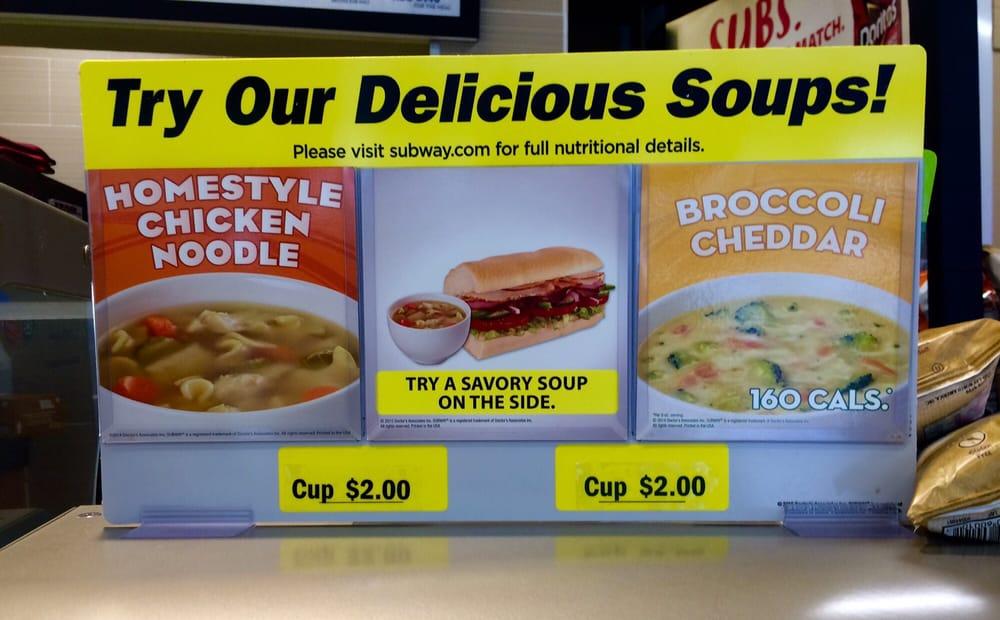 Photo of Subway - Ocala, FL, United States. Soups-2016