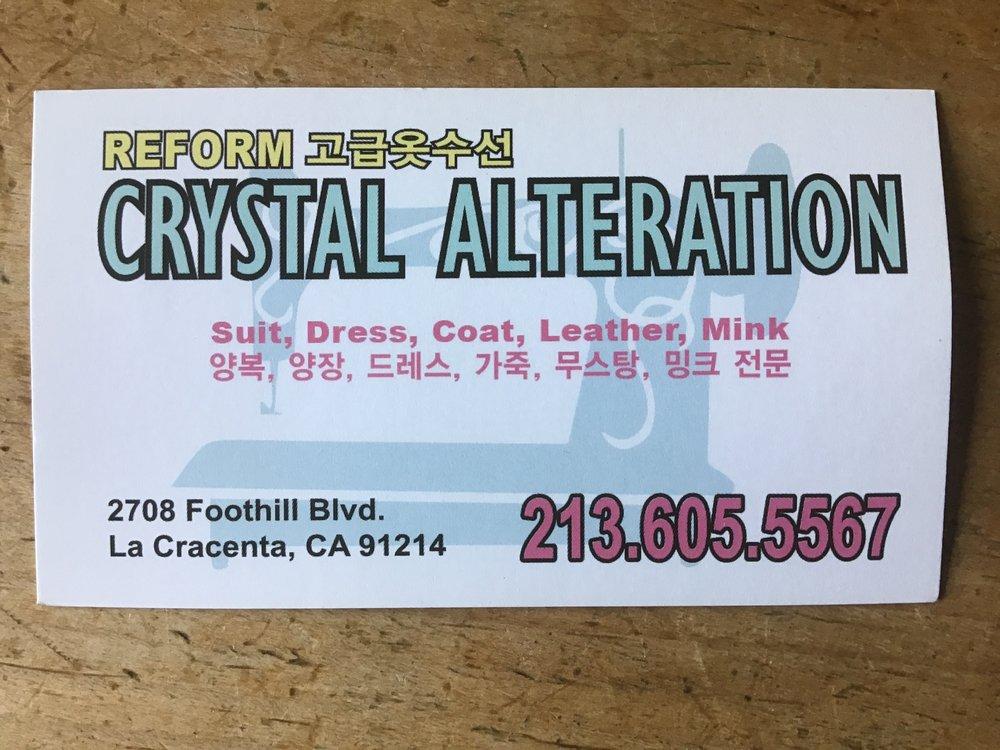 Crystals Alteration: 2708 Foothill Blvd, La Crescenta-Montrose, CA