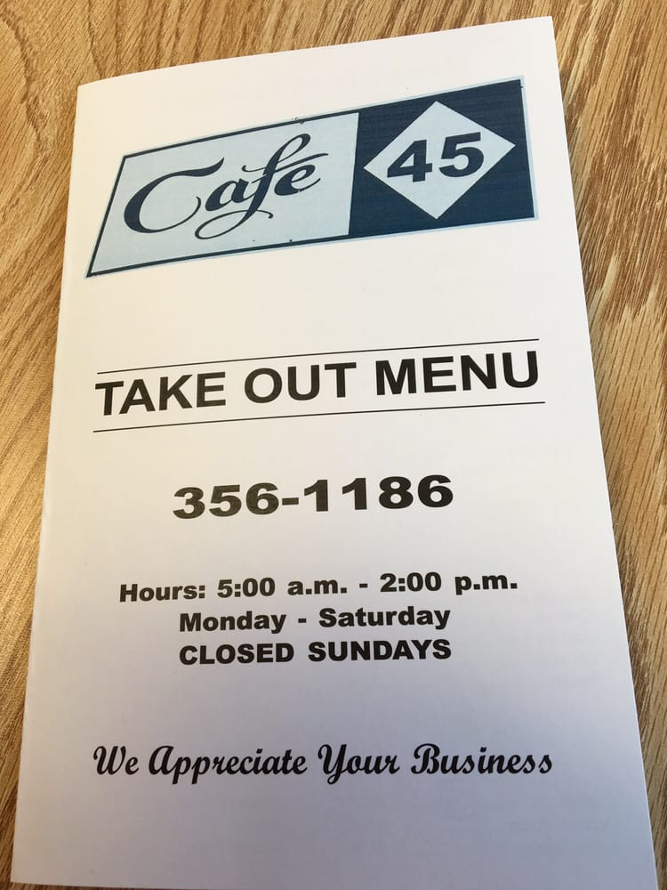 Cafe 45: North Carolina 45, Colerain, NC