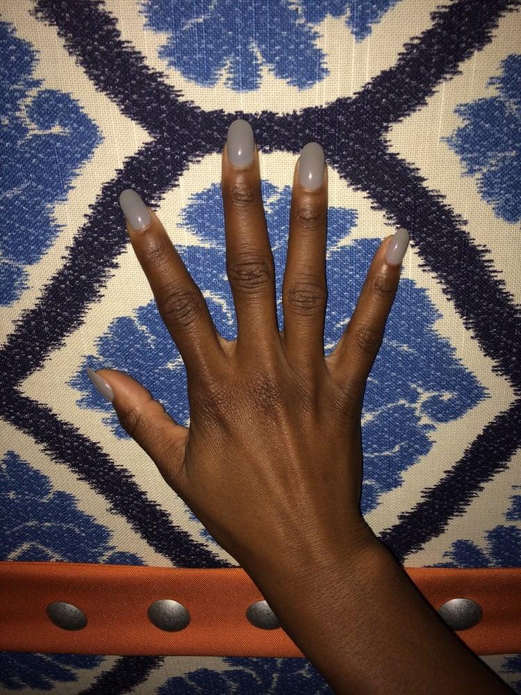 Powder dip nails on natural nails using SNS product by Nail Artist ...