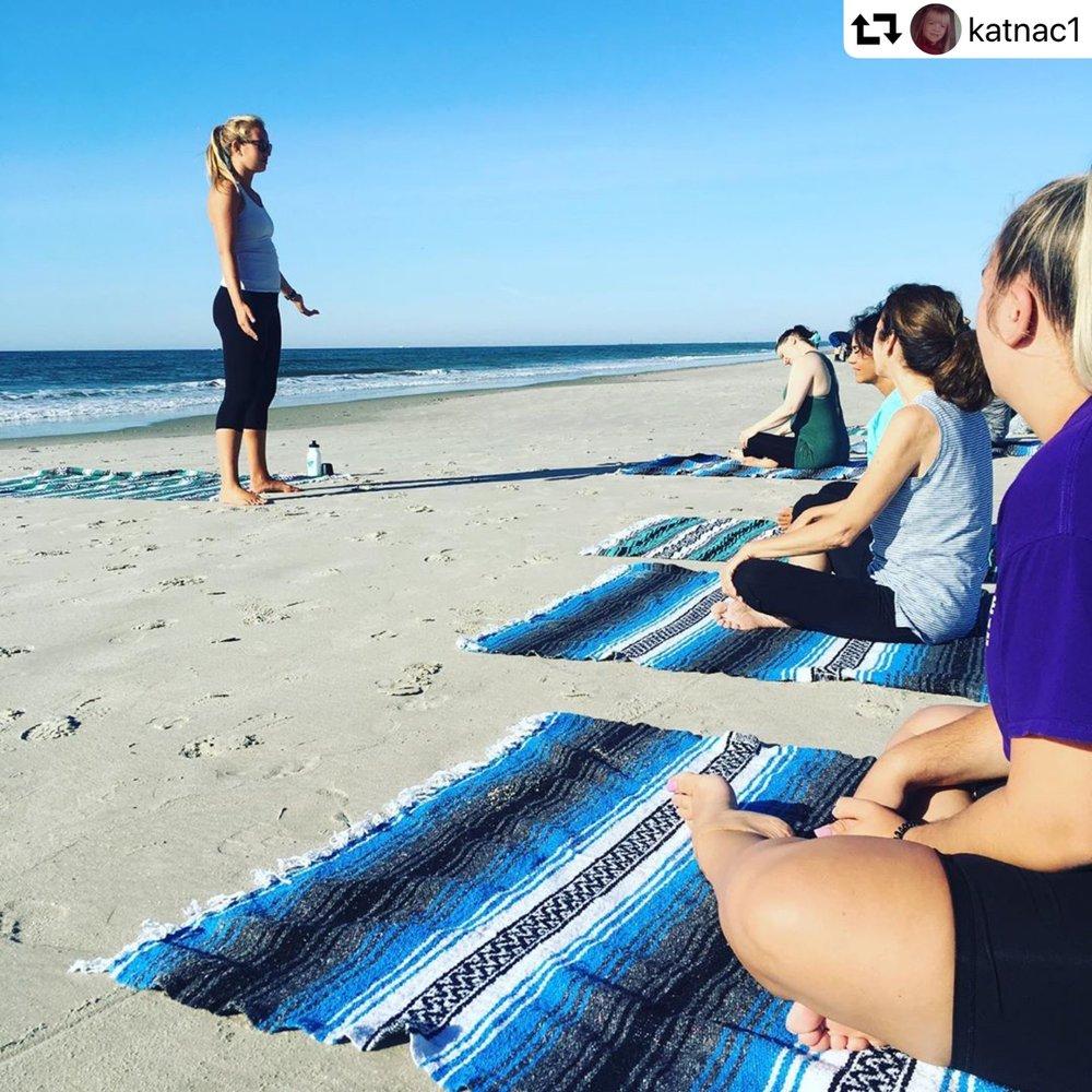 Beach Yoga at Seapointe Village: Wildwood Crest, NJ