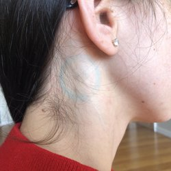 Bare tattooed pierced supplementary coarse