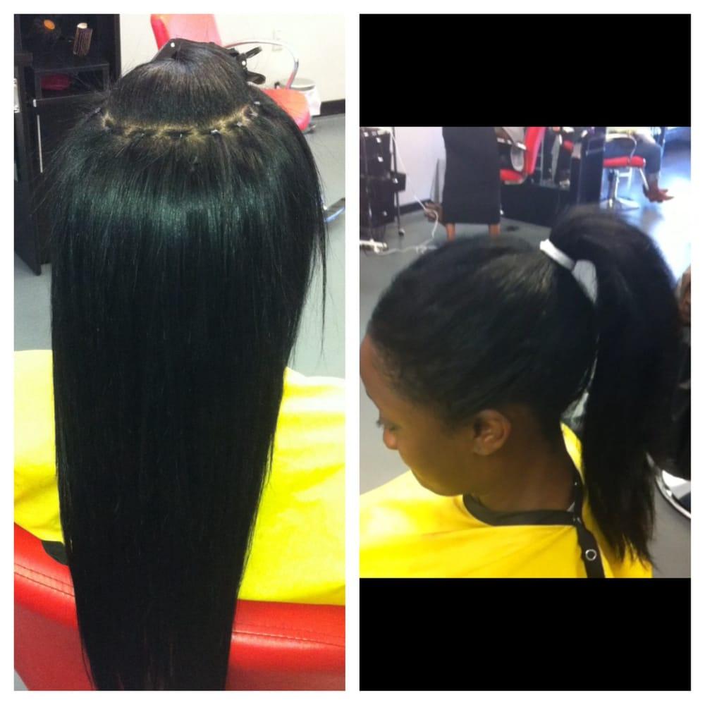 Microlink sew in weave braidless no lumps no braid tracks lay photo of custom hair extensions hair loss center tucker ga united states pmusecretfo Choice Image