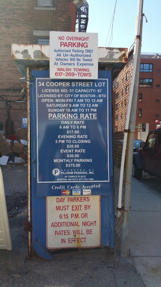 Cooper Street Parking Lot: 34 Cooper St, Boston, MA