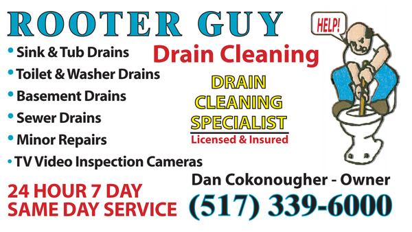Rooter Guy Drain Cleaning R 246 Rmokare Lansing Mi Usa