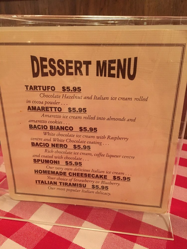 Dessert menu yelp for Nick s fish house menu
