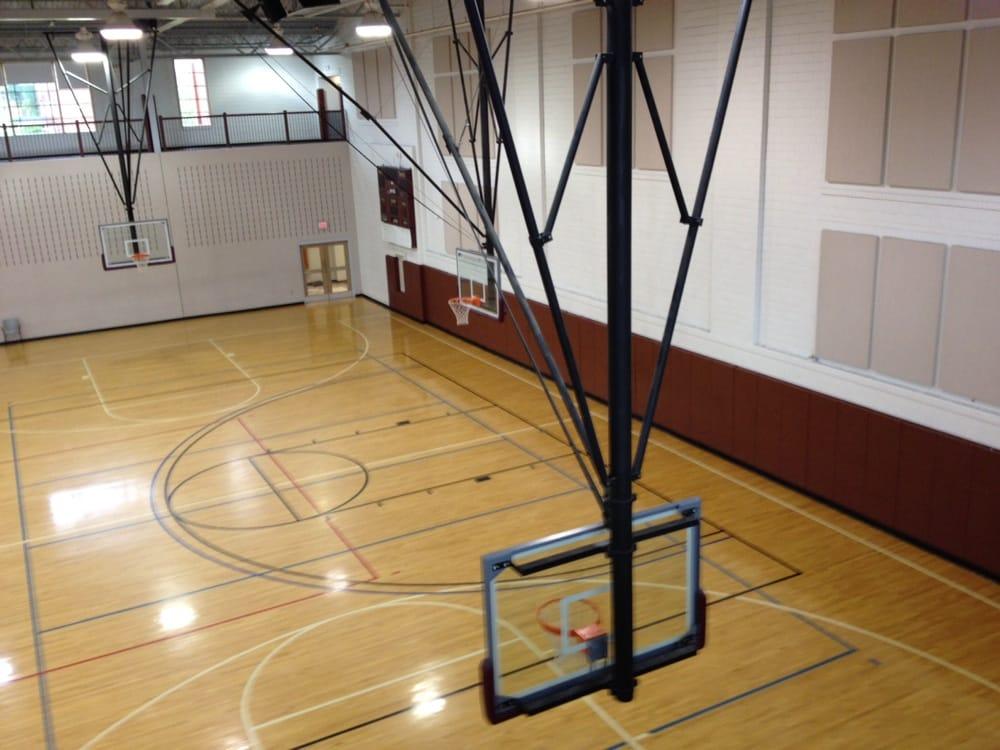 Indoor basketball courts. Multiple goals. 1st floor.. Walking ...
