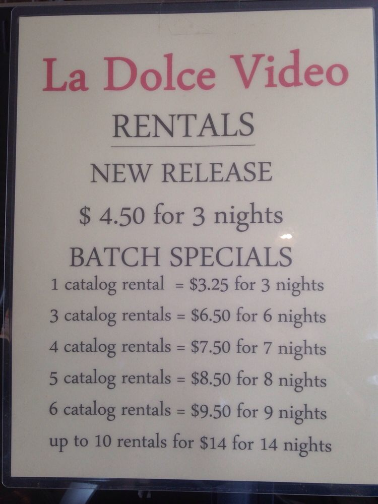La Dolce Video: 1540 G St, Arcata, CA