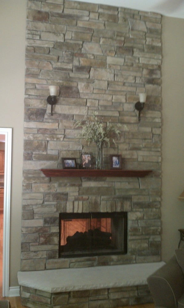 Strange Fireplace Done In Bucks County Country Ledgestone By Boral Download Free Architecture Designs Ferenbritishbridgeorg