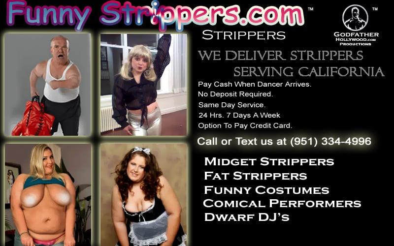 Funny Strippers: 1301 Avenida Cesar Chavez, Monterey Park, CA
