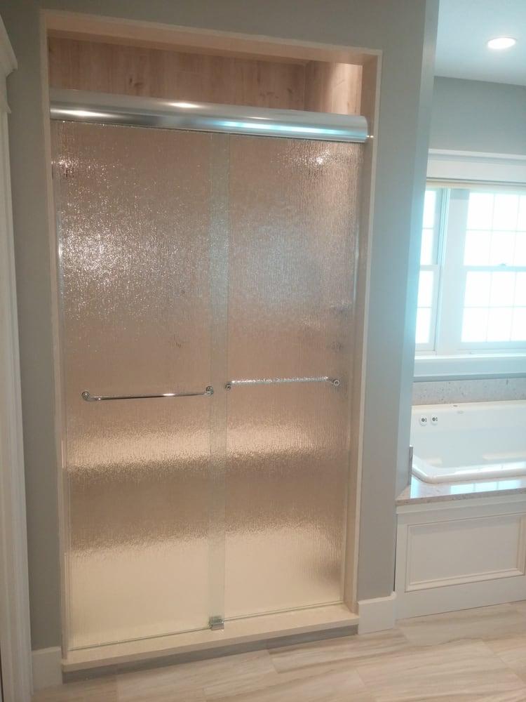 Frameless Sliding Shower Door With Rain Glass Yelp