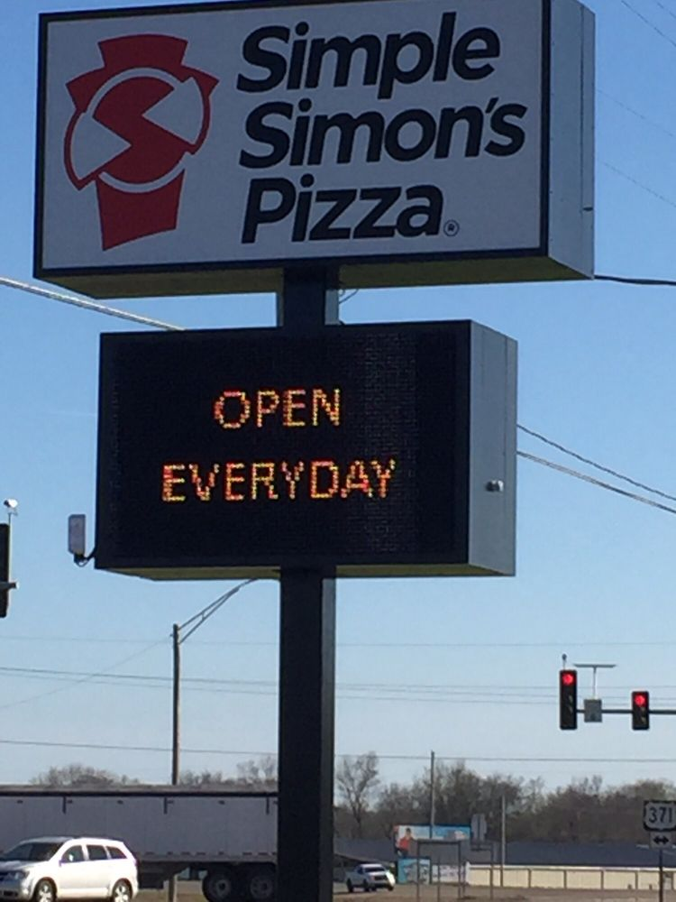 Simple Simon's Pizza: 517 Mine St, Nashville, AR