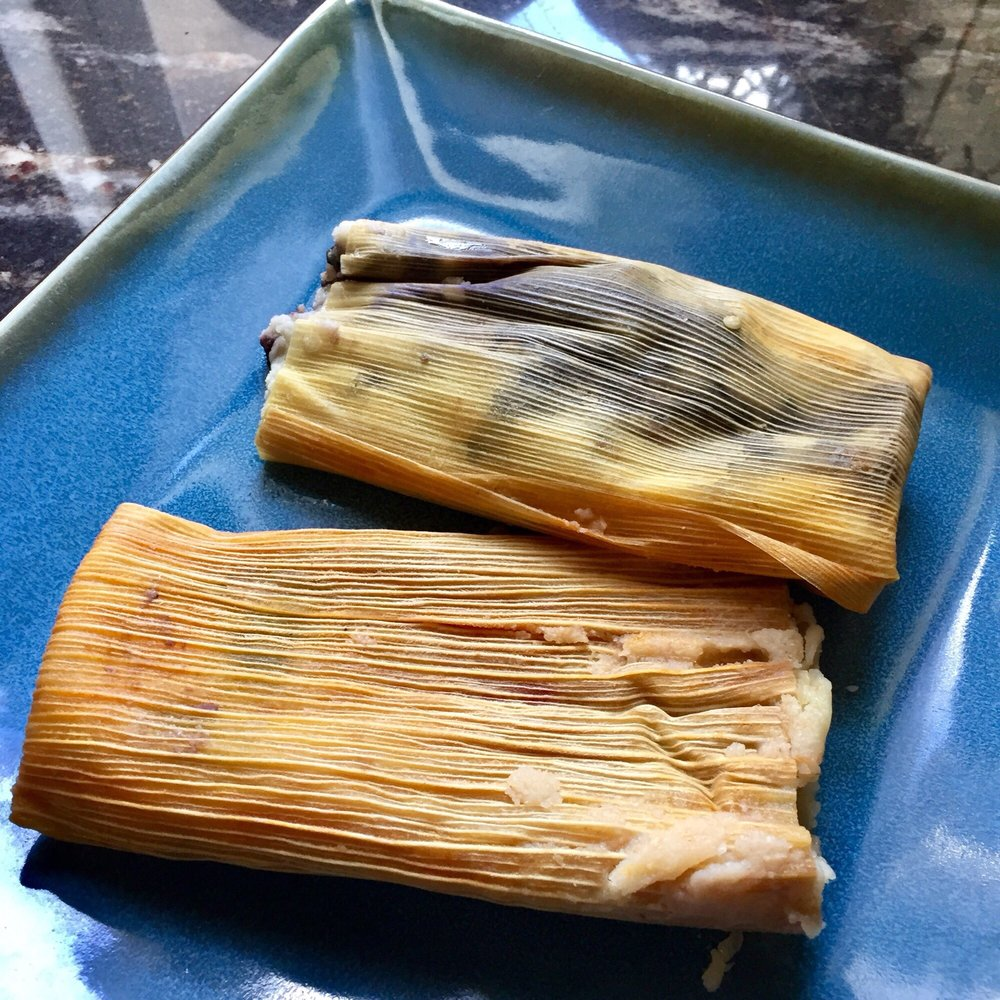 Food from Yolanda's Tamales