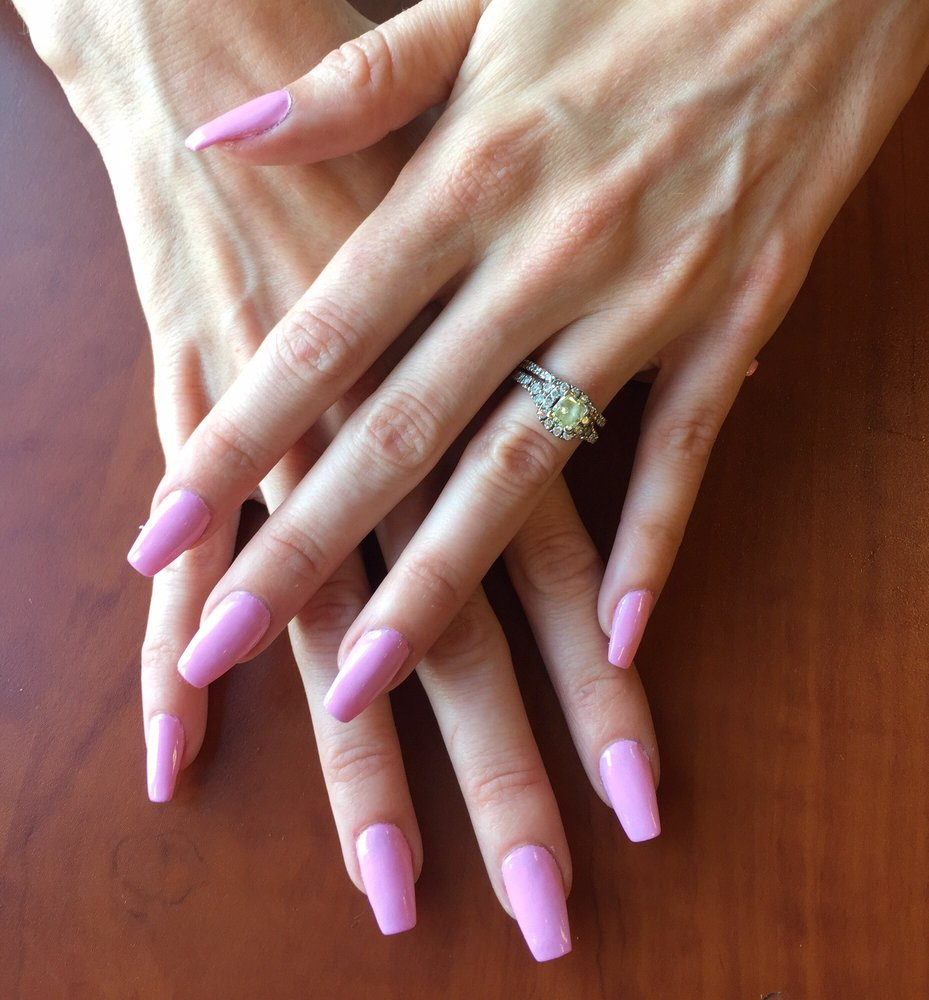 Love my coffin shaped acrylic nails. Very well done - Yelp