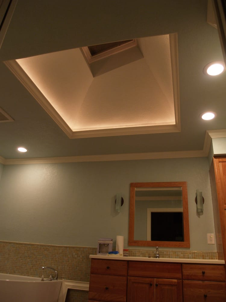Illuminated Skylight Opening With Led Lights Hidden Behind