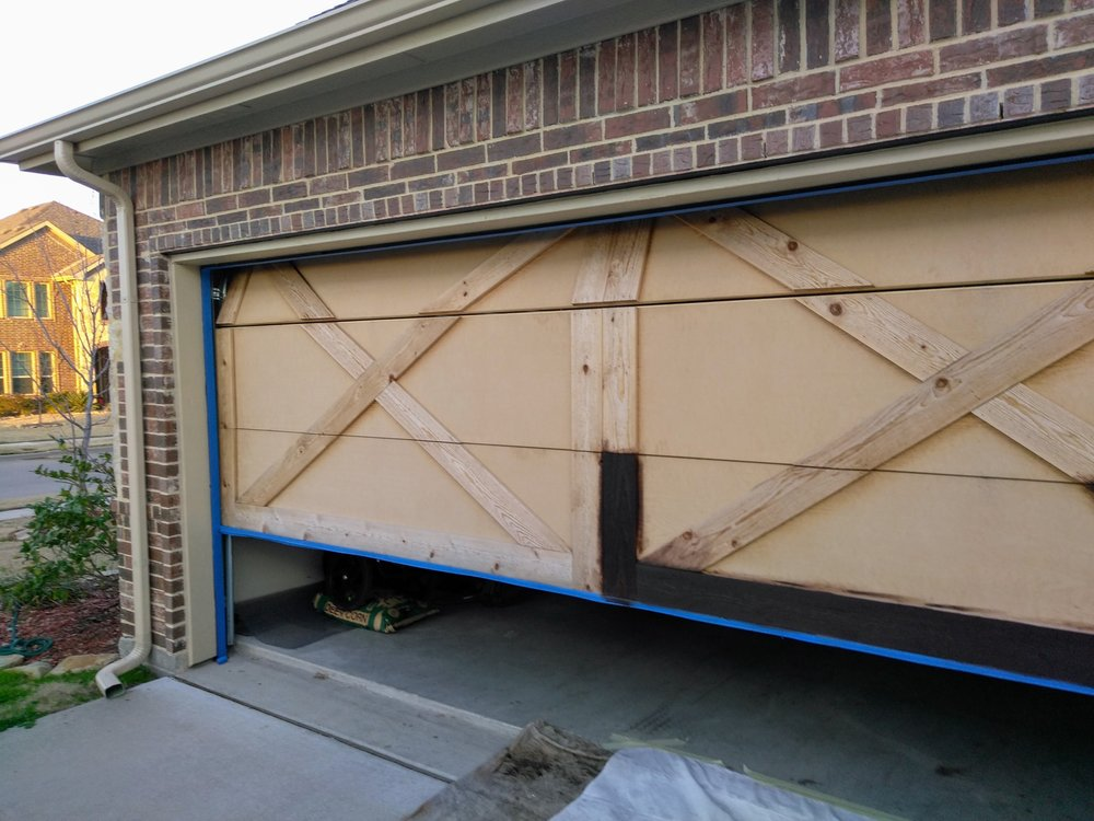Garage door prior to stain yelp for Reliable remodeling