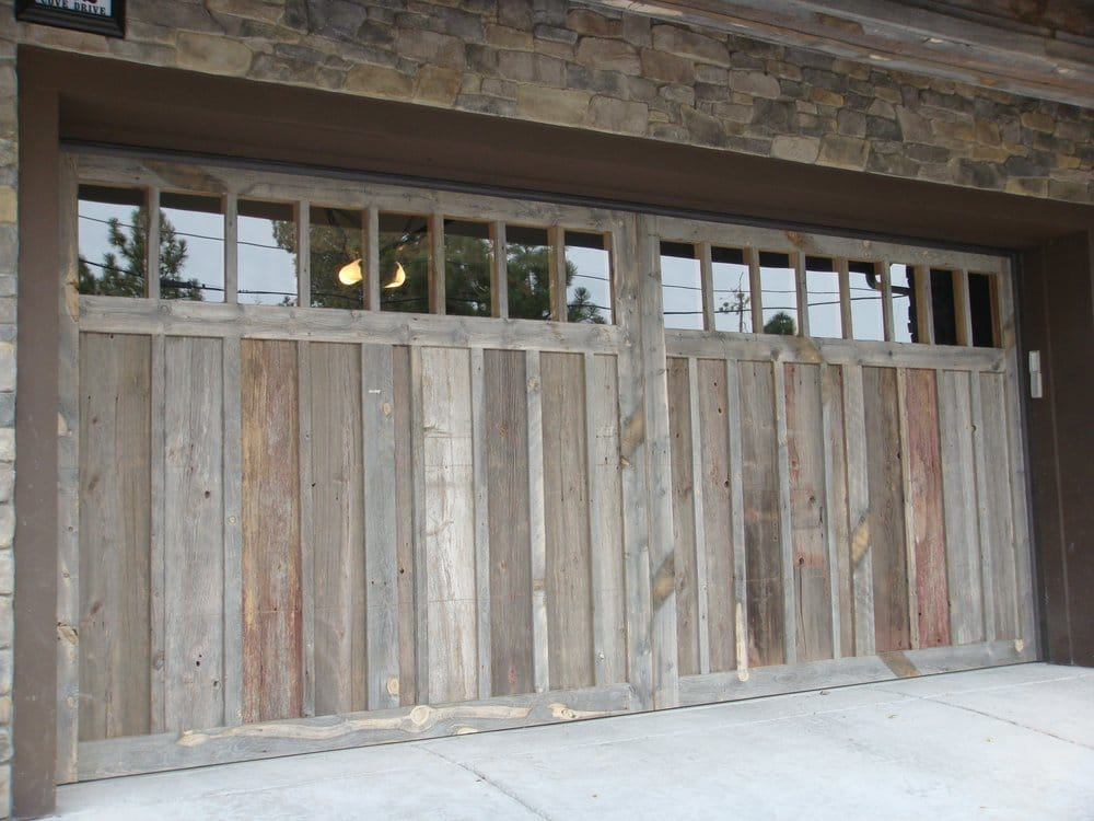 Custom Carriage House Garage Door Made Out Of 100 Year Old