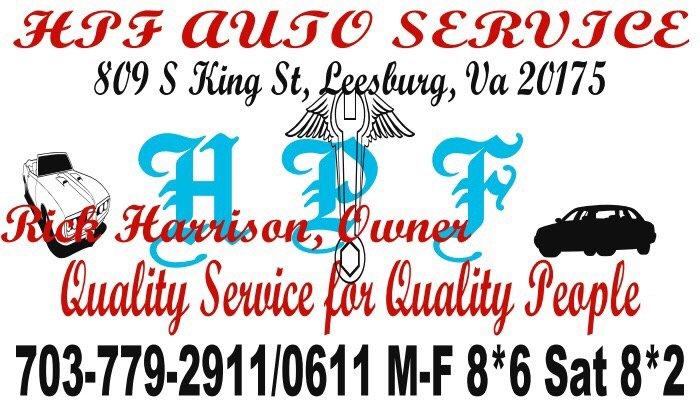 Hpf Auto Service: 809 S King St, Leesburg, VA
