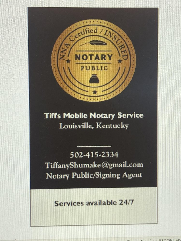 Tiff's Mobile Notary Service: Louisville, KY
