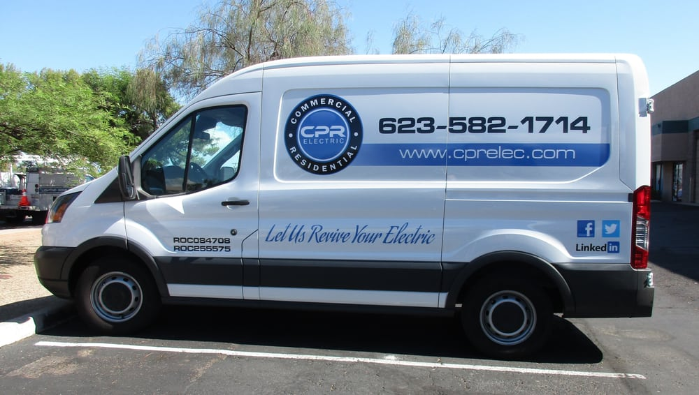 Cpr Electric Transit Van Print Cut Vinyl Lettering Yelp