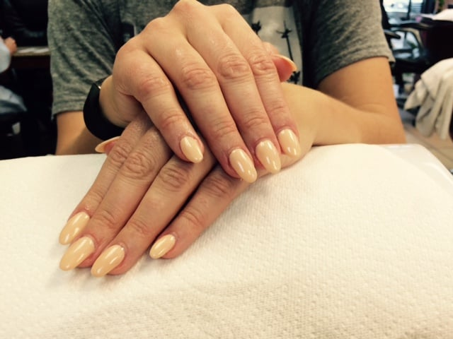 Acrylic nails with gel polish by Anne. She is absolutely the BEST ...