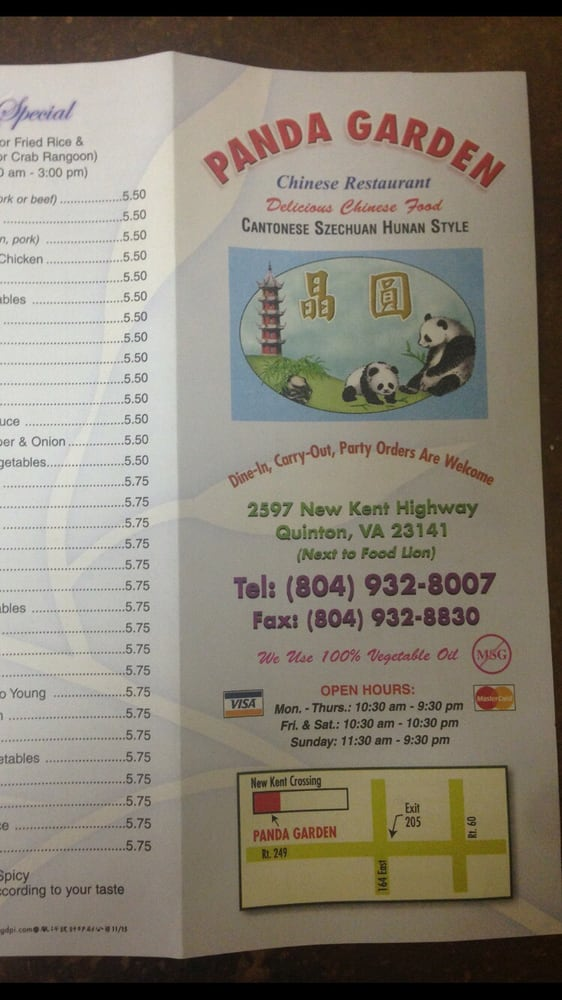 Pearl City Chinese Take Out: 2597 New Kent Hwy, Quinton, VA