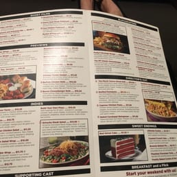 Movie Tavern Flourtown Food Menu