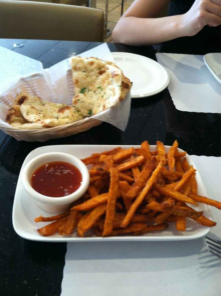 Garlic naan and sweet potato fries yelp for 8 elements perfect indian cuisine