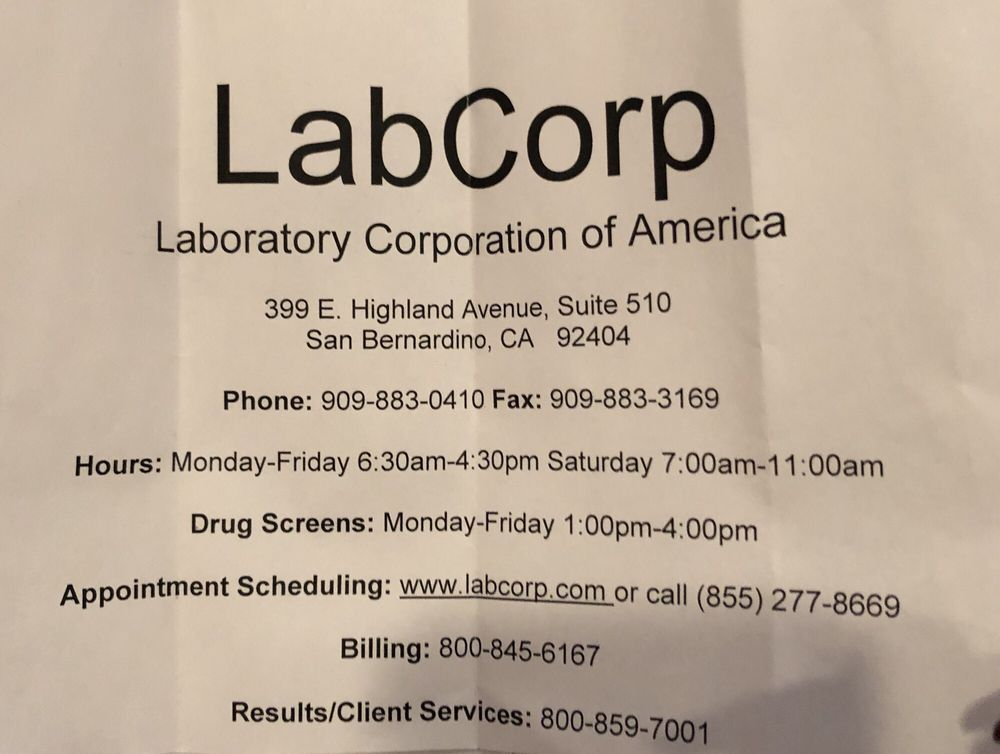 LabCorp - 17 Reviews - Laboratory Testing - 399 E Highland