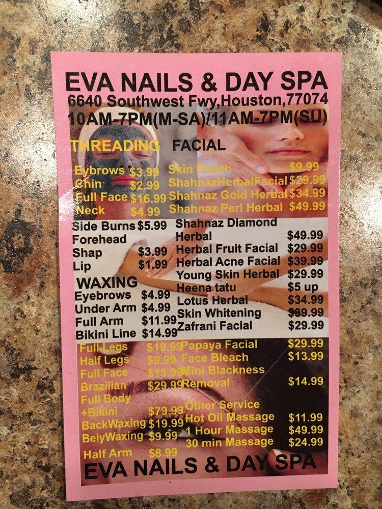 Eva Nails And Day Spa: 6640 Southwest Fwy, Houston, TX