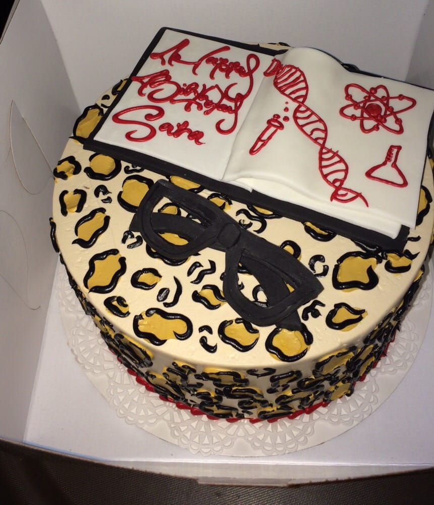 My Birthday Cake Im A Scientist And I Love Leopard Print They