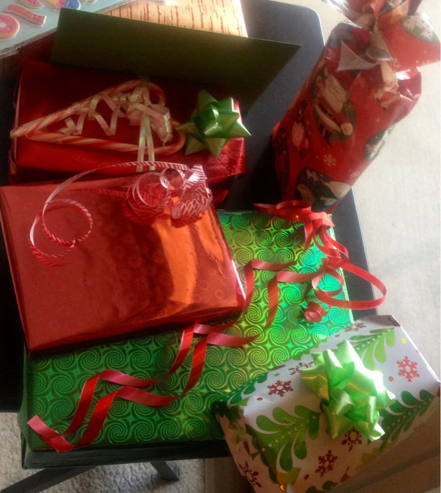 ... Gift Wrapping - San Francisco, CA, United States. A pile of goodies
