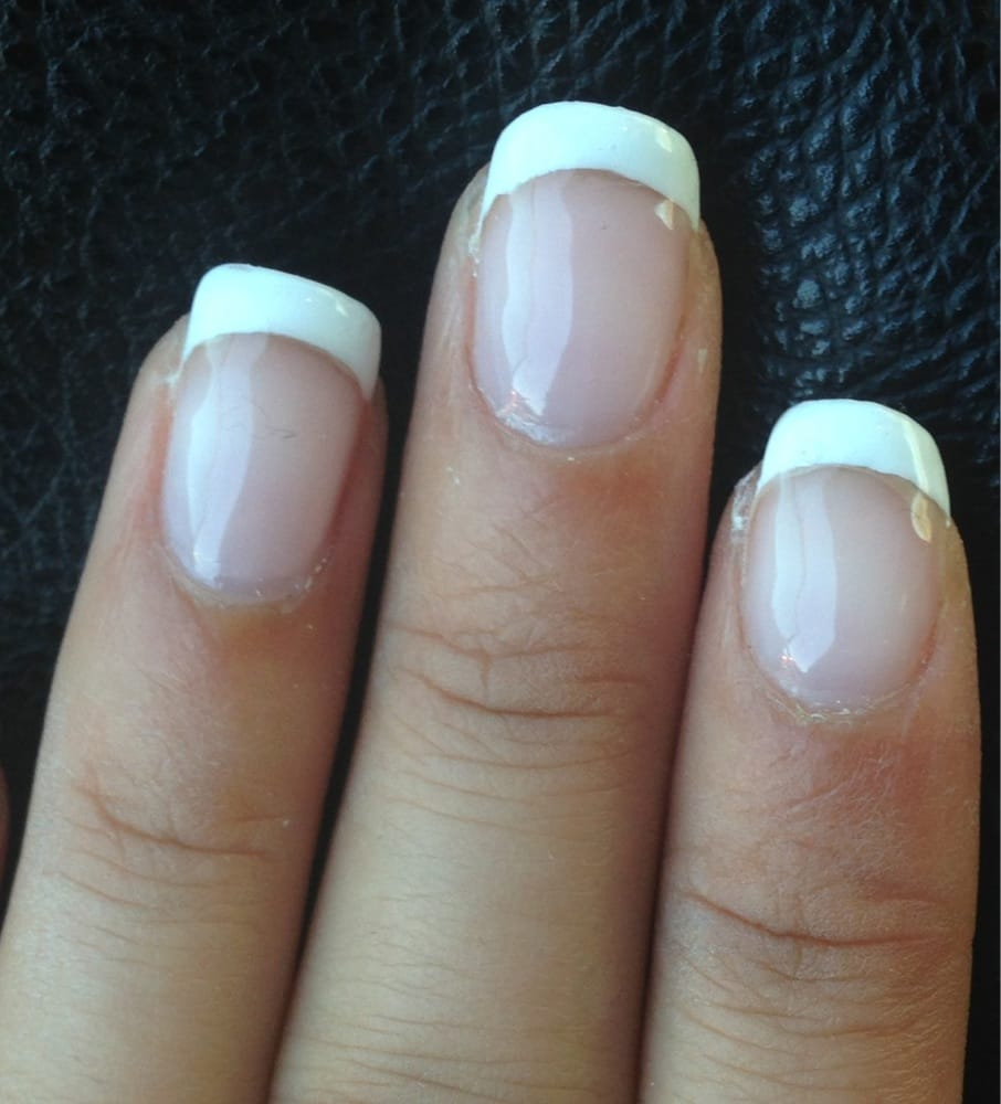 Photo Of Deluxe Nails Cypress Ca United States Uneven Nail Showing