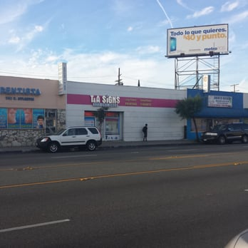 Ta signs advertising 739 s atlantic blvd east los for Recycled building materials los angeles