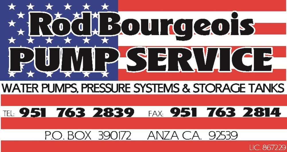 Rod Bourgeois Pump Service: Anza, CA